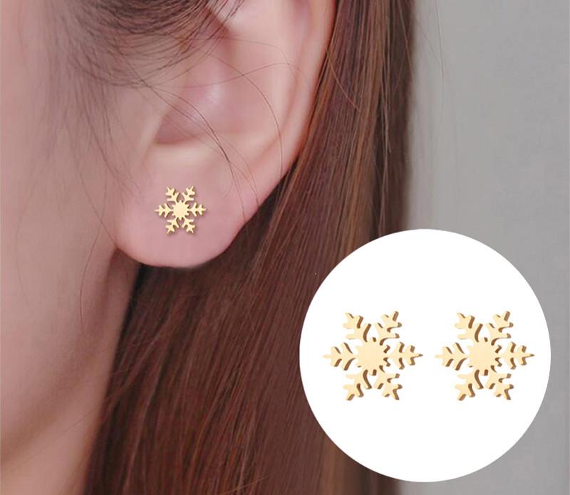 Edelstahl Ohrring Ohrringe Puzzel Puzzle Ohrstecker Silber Rosegold Gold