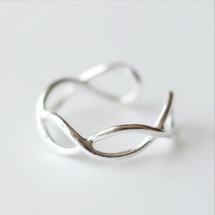 Ring Ringe Schwan Vogel Verstellbar Swan Vintage Silber